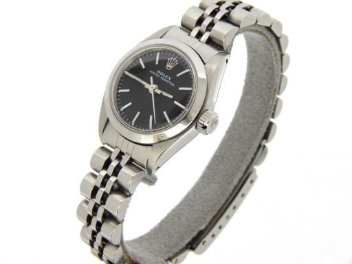 Rolex Stainless Steel Oyster Perpetual 6718 Black -6