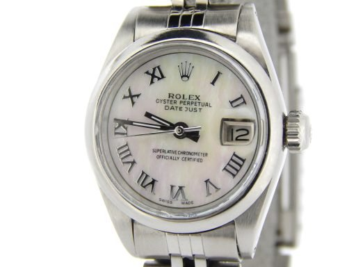 Rolex Stainless Steel Datejust 6916 White MOP Roman-1