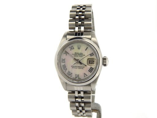 Rolex Stainless Steel Datejust 6916 White MOP Roman-8