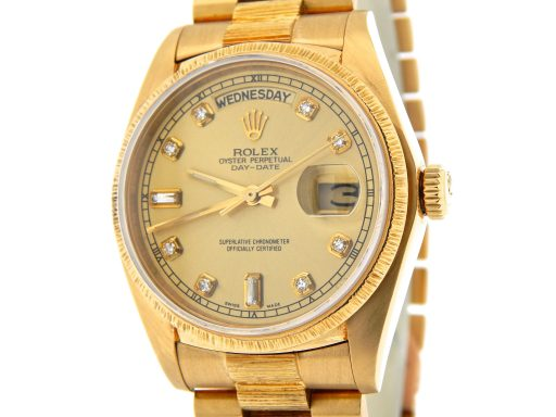 Rolex 18K Yellow Gold Day-Date President 18078 Champagne Diamond-1