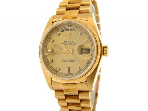 Rolex 18K Yellow Gold Day-Date President 18078 Champagne Diamond-7