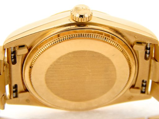 Rolex 18K Yellow Gold Day-Date President 18038 Blue Diamond-2