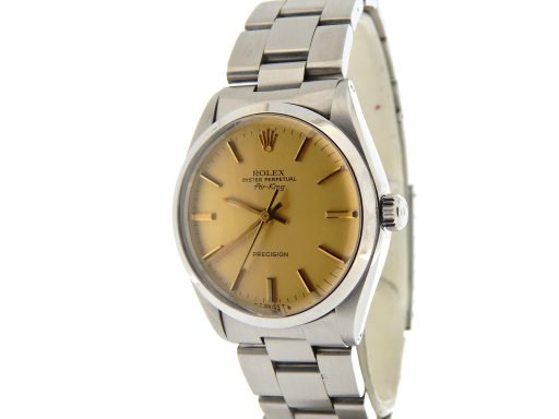 Rolex Stainless Steel Air-King 5500 Champagne-8