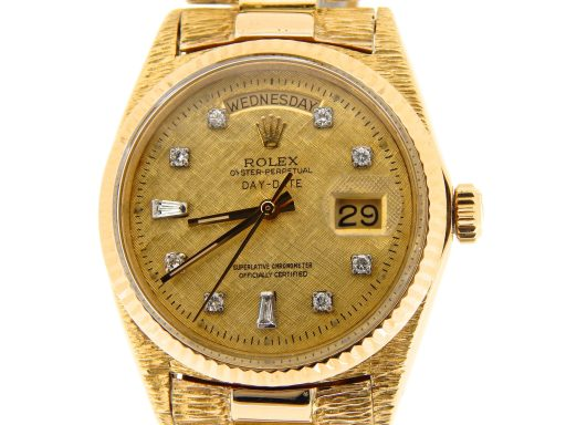 Rolex  Yellow Gold Day-Date President 1803 Champagne Diamond-7