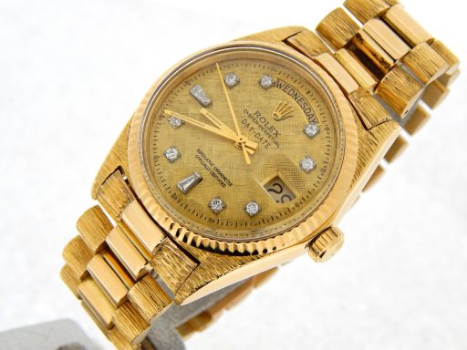 Rolex  Yellow Gold Day-Date President 1803 Champagne Diamond-5
