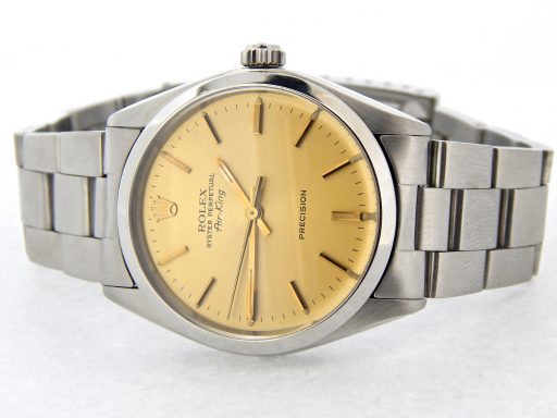 Rolex Stainless Steel Air-King 5500 Champagne-6
