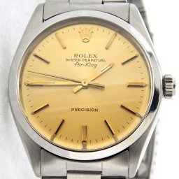 Mens Rolex Stainless Steel Air-King Champagne  5500 (SKU 7624203NCMT)