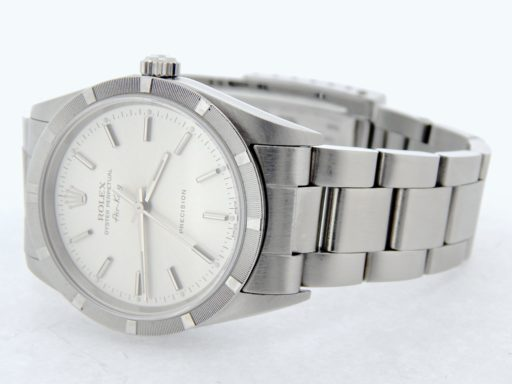 Rolex Stainless Steel Air-King 14010 Silver -5