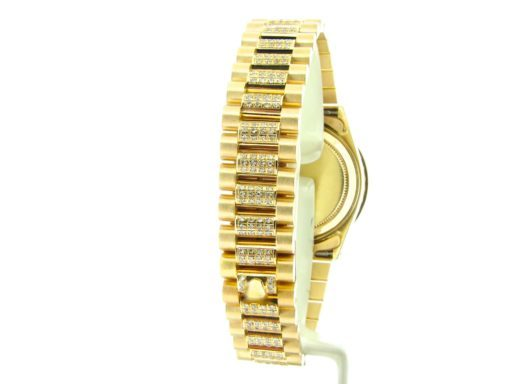 Rolex Yellow Gold Datejust President Diamond 68278 White-3