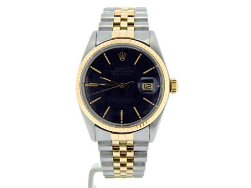 Rolex Two-Tone Datejust 16013 Black -7