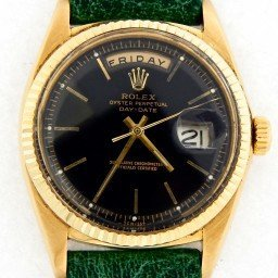 Mens Rolex 18K Gold Day-Date President Black  1803