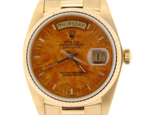 Rolex 18K Yellow Gold Day-Date President 18038 Brown -1