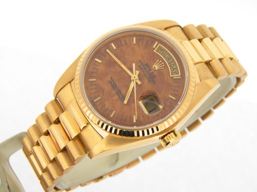 Rolex 18K Yellow Gold Day-Date President 18038 Brown -8