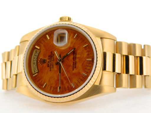 Rolex 18K Yellow Gold Day-Date President 18038 Brown -7