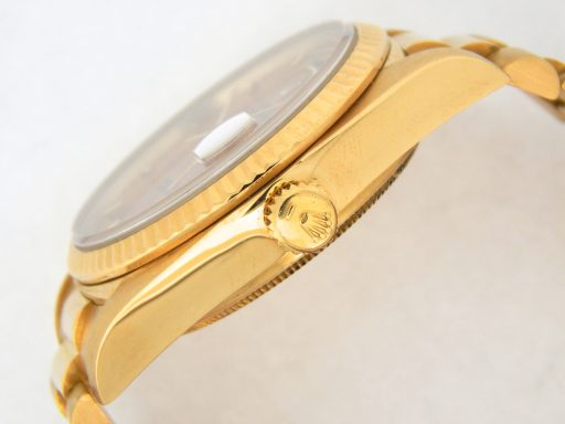 Rolex 18K Yellow Gold Day-Date President 18038 Brown -4