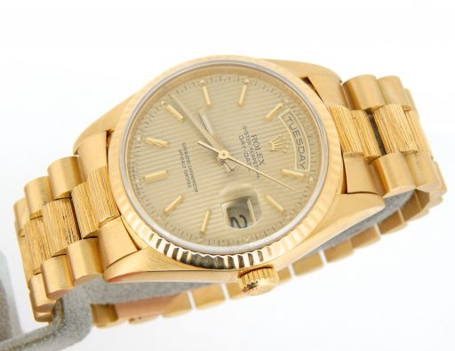 Rolex 18K Yellow Gold Day-Date President 18238 Champagne -8