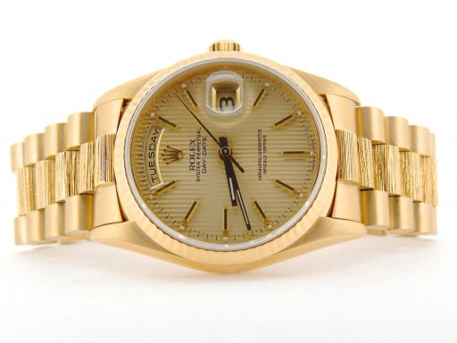 Rolex 18K Yellow Gold Day-Date President 18238 Champagne -6