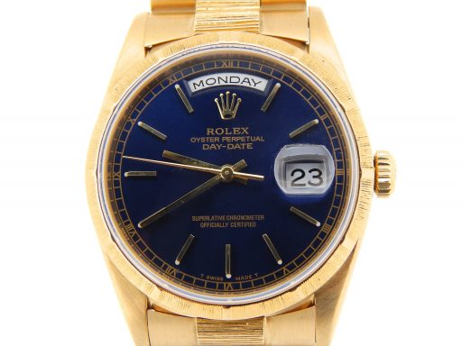 Rolex 18K Yellow Gold Day-Date President 18248 Blue -1