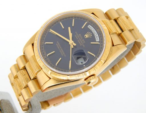 Rolex 18K Yellow Gold Day-Date President 18248 Blue -8
