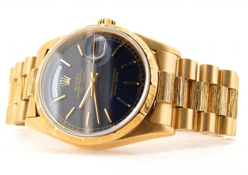 Rolex 18K Yellow Gold Day-Date President 18248 Blue -7