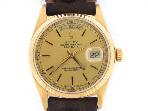 Rolex 18K Yellow Gold Day-Date President 18038 Champagne -1