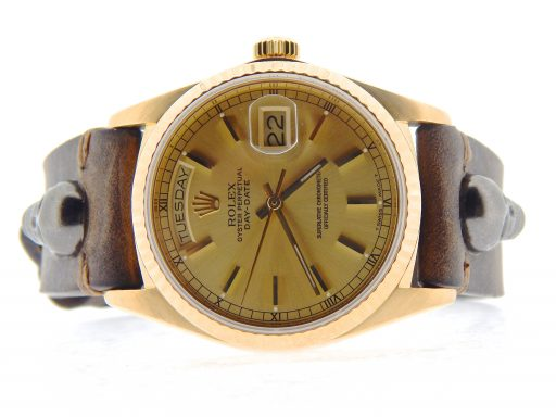 Rolex 18K Yellow Gold Day-Date President 18038 Champagne -7