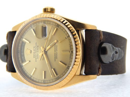 Rolex 18K Yellow Gold Day-Date President 18038 Champagne -6