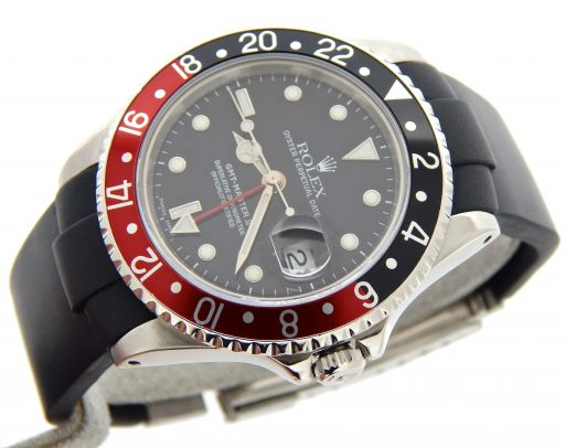 Rolex Stainless Steel GMT Master II 16710 Black & Red Coke -8
