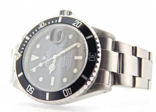 Rolex Stainless Steel Submariner 16610 Black -6