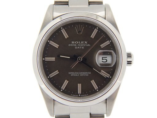 Rolex Stainless Steel Date 15200 Gray, Slate -1