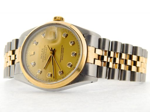 Rolex Two-Tone Datejust 16013 Champagne Diamond-7