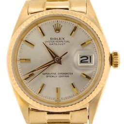 Mens Rolex 18K Yellow Gold Datejust Silver  1601 (SKU 100978NMDMT)