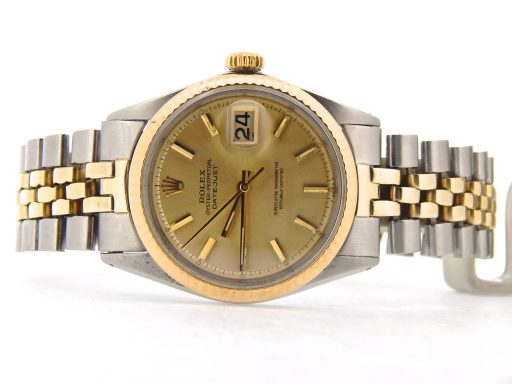 Rolex Two-Tone Datejust 1601 Champagne -8