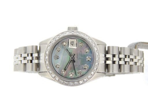 Rolex Stainless Steel Datejust 6916 Tahitian MOP Diamond-5