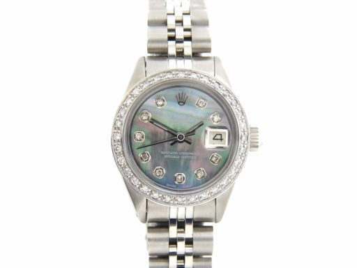 Rolex Stainless Steel Datejust 6916 Tahitian MOP Diamond-7