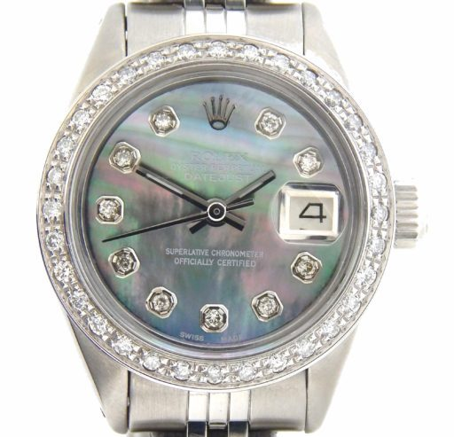 Rolex Stainless Steel Datejust 6916 Tahitian MOP Diamond-1