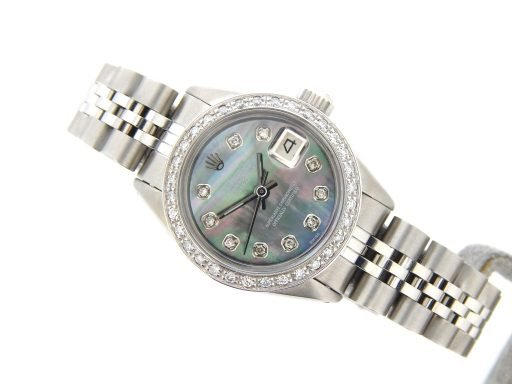 Rolex Stainless Steel Datejust 6916 Tahitian MOP Diamond-6