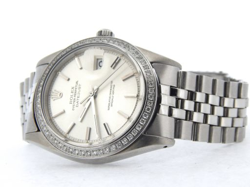 Rolex Stainless Steel Datejust 1603 Silver  Diamond-6