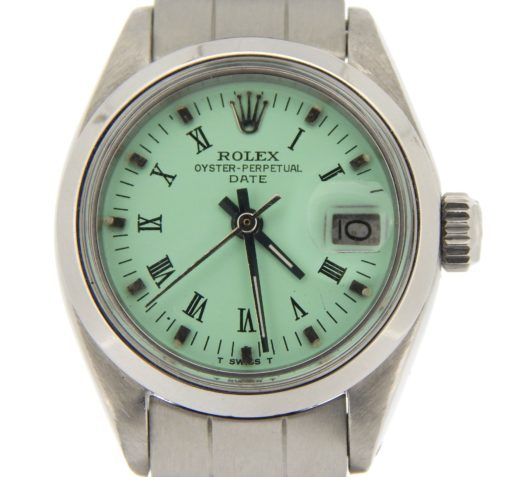 Rolex Stainless Steel Date 6916 Green Roman-5
