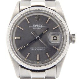 Mens Rolex Stainless Steel Datejust Gray Slate  1603 (SKU 16031960PSMT)
