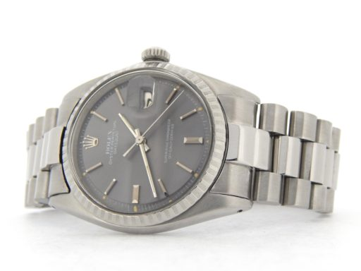 Rolex Stainless Steel Datejust 1603 Gray Slate -8