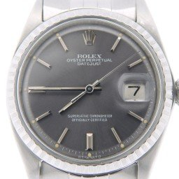 Mens Rolex Stainless Steel Datejust Gray Slate  1603