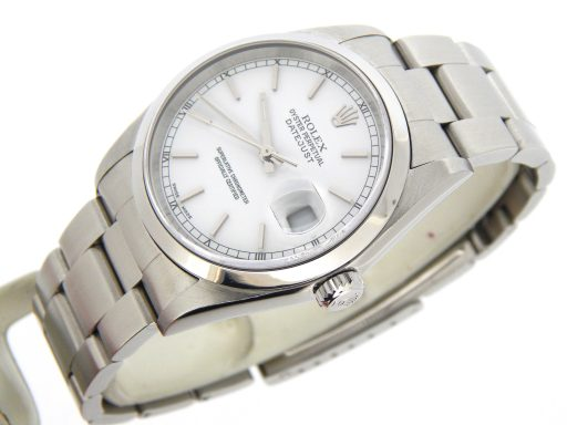 Rolex Stainless Steel Datejust 16200 White -8