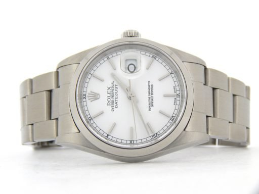 Rolex Stainless Steel Datejust 16200 White -7