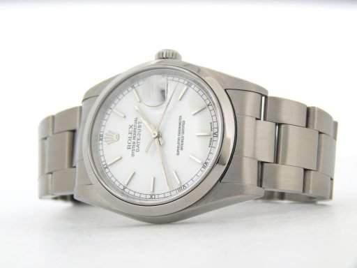 Rolex Stainless Steel Datejust 16200 White -6