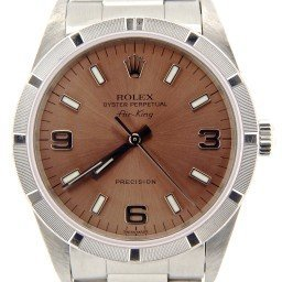 Mens Rolex Stainless Steel Air-King Salmon Arabic 14010 (SKU A934156NCMT)