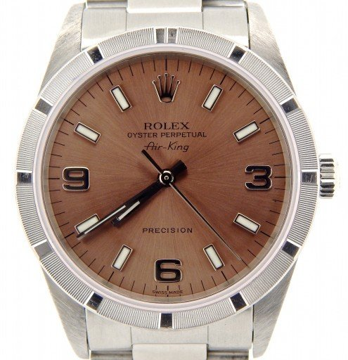 Rolex Stainless Steel Air-King 14010 Salmon-1