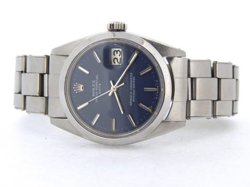Rolex Stainless Steel Date 1500 Blue -8
