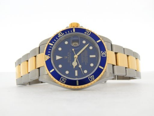 Rolex Two-Tone Submariner 16613T Blue -8