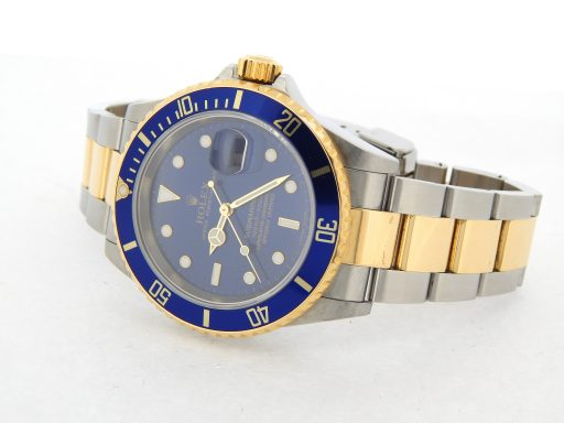 Rolex Two-Tone Submariner 16613T Blue -7